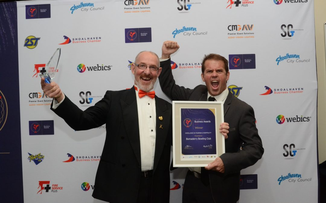 Congratulations to Bomaderry Bowling Club, winner of the Excellence in Tourism and Hospitality Award